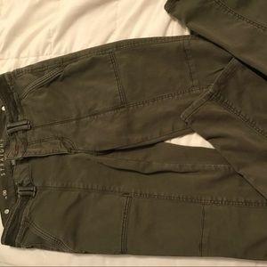 Slim straight crop pants